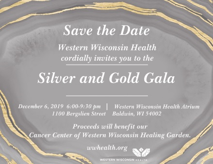 Save the Date Silver & Gold Gala